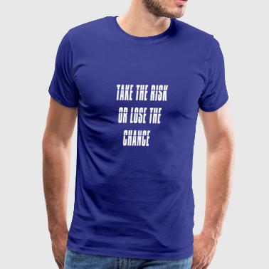 Simple Risk Quotes - Men's Premium T-Shirt