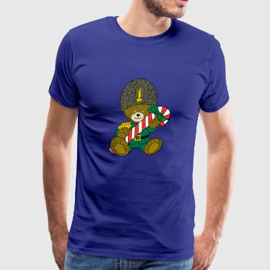 Christmas Teddy with a candy cane :) - Men's Premium T-Shirt