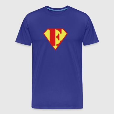 Super Muscle Man Body Builder - E - Men's Premium T-Shirt