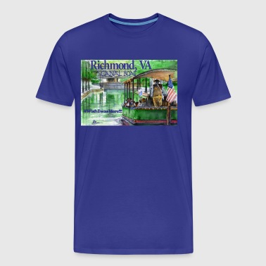 Canal Boat Richmond, VA - Men's Premium T-Shirt