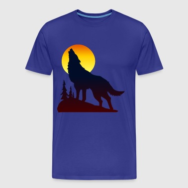 Wolf coyote moon - Men's Premium T-Shirt