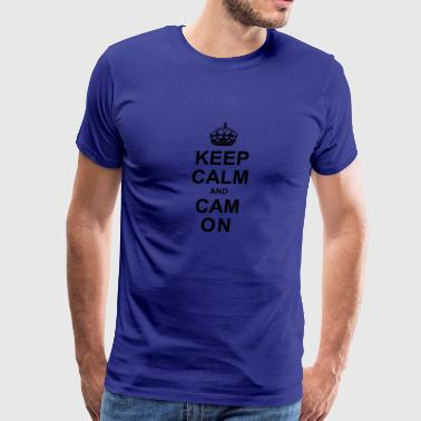 Keep Calm And Cam On - Black - Men's Premium T-Shirt