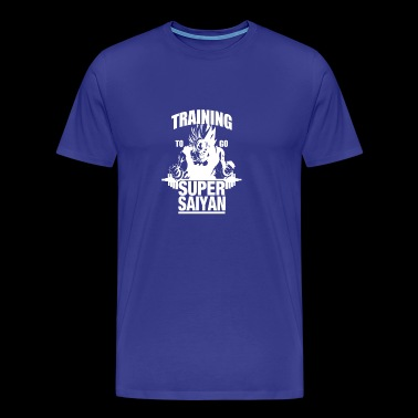 Training To Go Super Saiyan - Men's Premium T-Shirt
