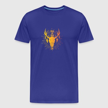 Wild and free deer skull - Men's Premium T-Shirt
