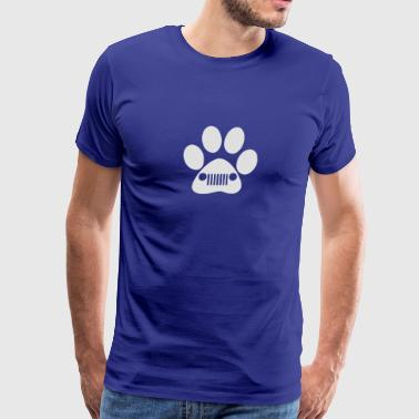 New Heart and Dog Paw Decal Jeep - Men's Premium T-Shirt