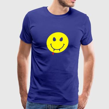 Vampire Smiley Circle - Men's Premium T-Shirt