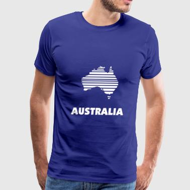 Australia map in stripes - Men's Premium T-Shirt