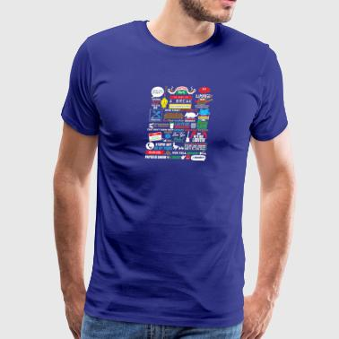 Friends Friends Fans T shirts - Men's Premium T-Shirt
