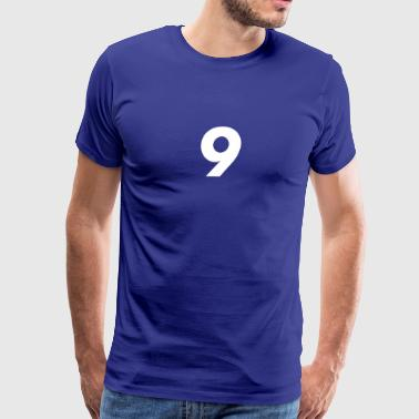 9, Nine, Number Nine, Number 9 - Men's Premium T-Shirt