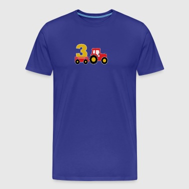 3 years old and truck - Men's Premium T-Shirt