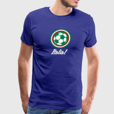 Italy Football Emblem - Men's Premium T-Shirt