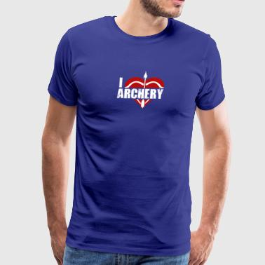 I Love Archery Shirt - Men's Premium T-Shirt