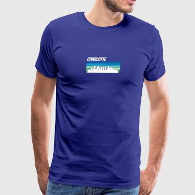 Retro Charlotte Skyline - Men's Premium T-Shirt