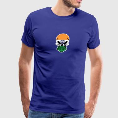 Indian Flag Skull - Men's Premium T-Shirt