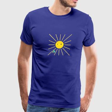 sun earth and moon - Men's Premium T-Shirt