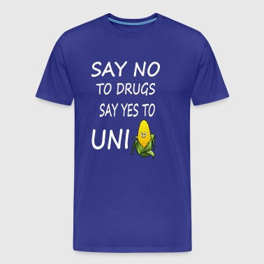 Anti Drugs Unicorns Funny T-Shirt - Men's Premium T-Shirt