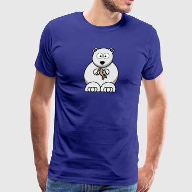 polar bear eisbaer nordpol north pole alaska3 - Men's Premium T-Shirt