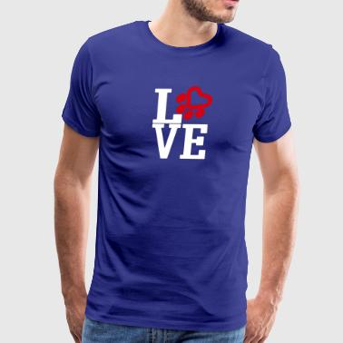 cat saying Love cats - Men's Premium T-Shirt