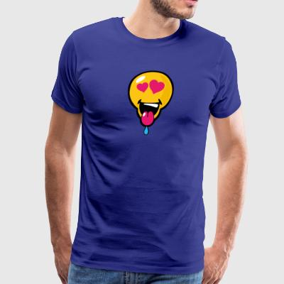 SmileyWorld Helpless in Love Smiley - Men's Premium T-Shirt