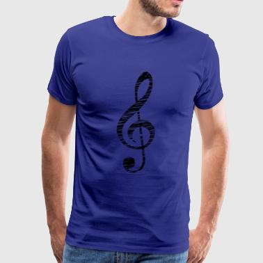 Treble Clef - Music Themed Apparel - Men's Premium T-Shirt