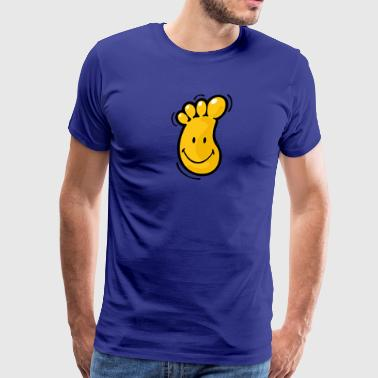 SmileyWorld Wiggly Foot - Men's Premium T-Shirt