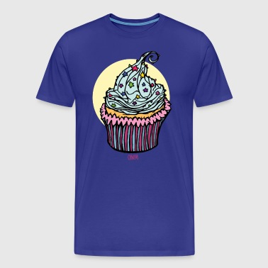 Cupcake with colored sprinkles - Men's Premium T-Shirt