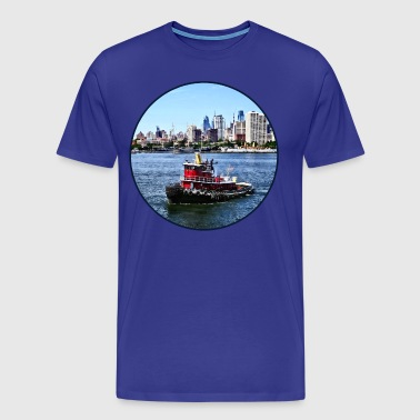 Philadelphia PA - Tugboat by Philadelphia Skyline - Men's Premium T-Shirt