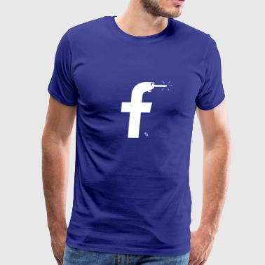 Facebook Pinocchio - a more honest logo - Men's Premium T-Shirt