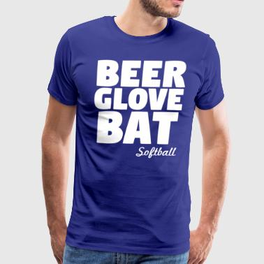 Beer Glove Bat Softball - Men's Premium T-Shirt