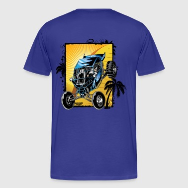 Blue Downhill Dune Buggy - Men's Premium T-Shirt