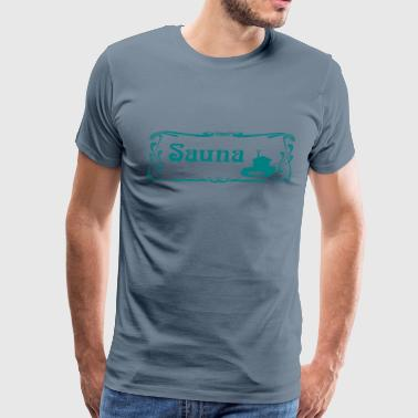 Sauna Sign - Men's Premium T-Shirt