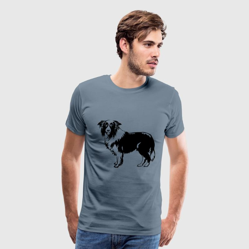 Hund Border Collie - Men's Premium T-Shirt