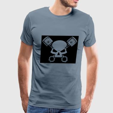 Skull and Pistons - Men's Premium T-Shirt