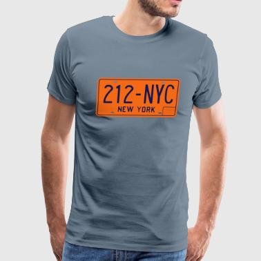 212-NYC New York City License Plate - Men's Premium T-Shirt