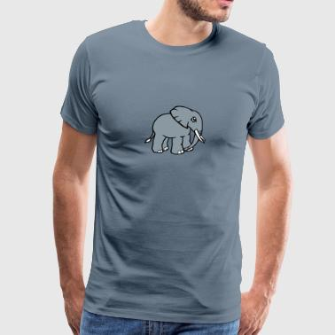 Elephant head face painted - Men's Premium T-Shirt