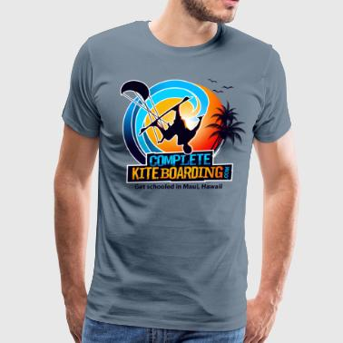 Kite Boarding Logo  - Men's Premium T-Shirt