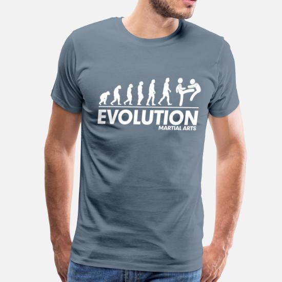 2ec33562c Martial Arts T-Shirts - Evolution Martial Arts FUNNY - Men's Premium T-Shirt.  Customize
