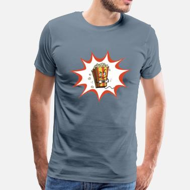 Popcorn Hot Buttered Gamer - Men's Premium T-Shirt
