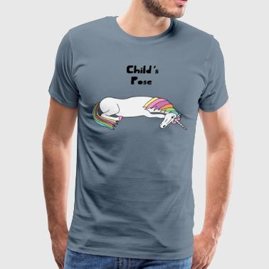 Yoga Unicorn Child's Pose  - Men's Premium T-Shirt