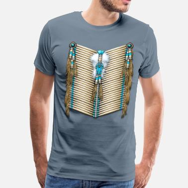 Deerskin Native Breastplate 14 - Men's Premium T-Shirt