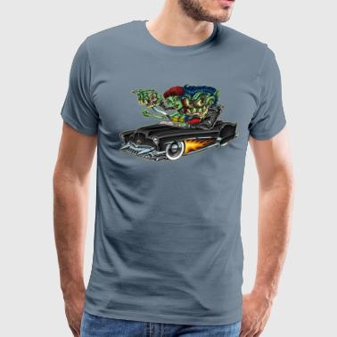 Monster Rebel Car-Toon - Men's Premium T-Shirt