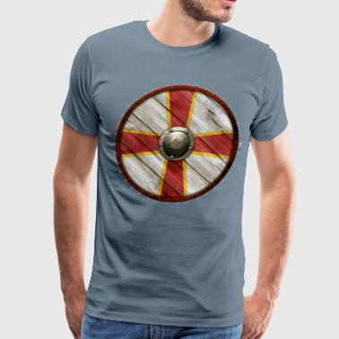 Viking shield flag - Men's Premium T-Shirt