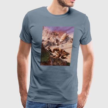 Dragon on the prowl a - Men's Premium T-Shirt