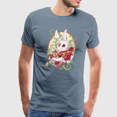 The rabbit hole red f - Men's Premium T-Shirt