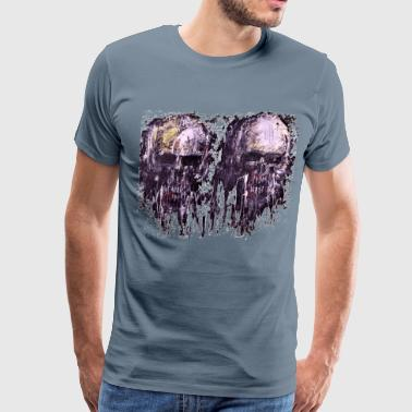 Double skull drip - Men's Premium T-Shirt