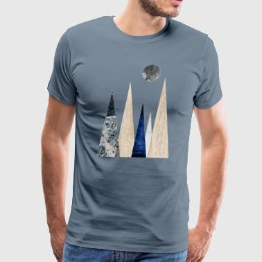 Scandi mountain scene - Men's Premium T-Shirt