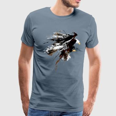 Eruption eagle art - Men's Premium T-Shirt