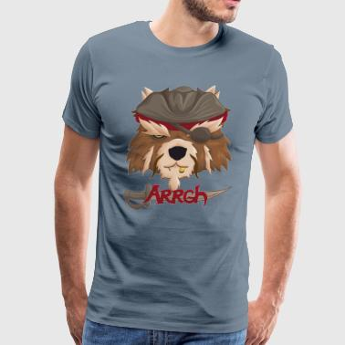 Raccoonation p design - Men's Premium T-Shirt