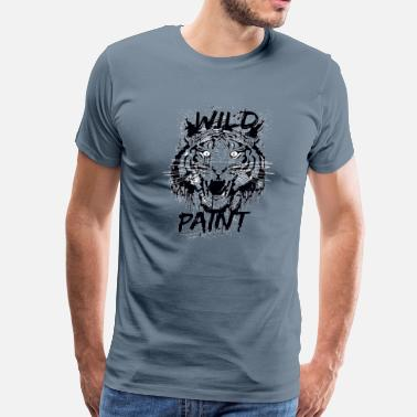 Paints Wild paints painting  - Men's Premium T-Shirt