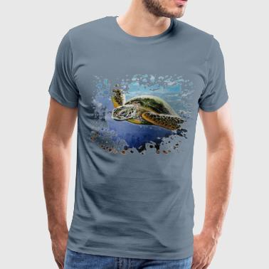 Pauly D Sea turtle painting d - Men's Premium T-Shirt